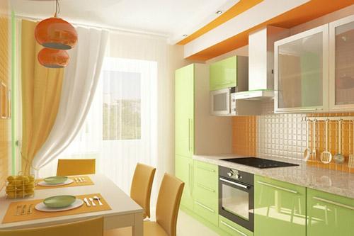 Шторы для кухни с балконом