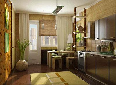 шторы для кухни с балконной дверью
