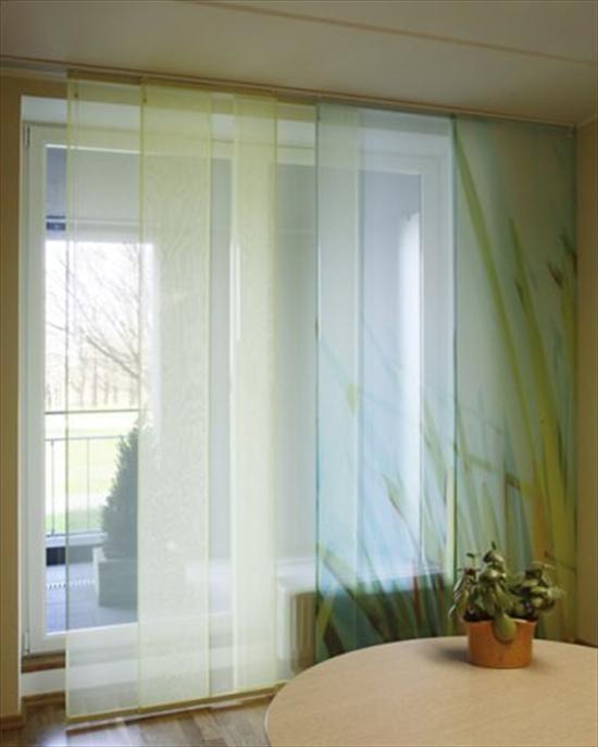 Дизайн штор для кухни с балконной дверью - фото.