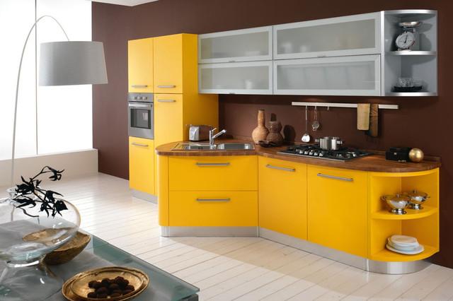 кухня модерн желтая
