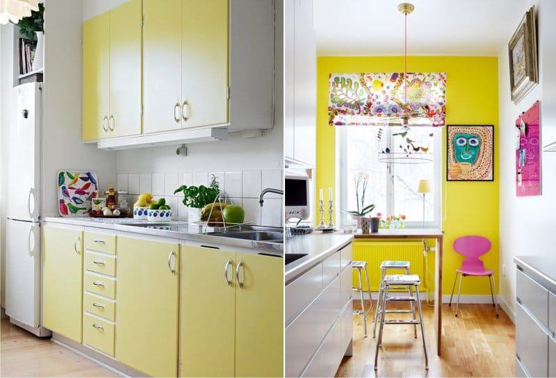 жёлтый цвет на кухне