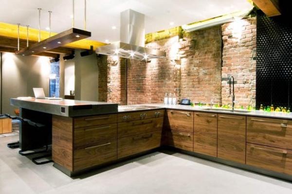 Дизайн кухни в стиле лофт: когда простота «к лицу»