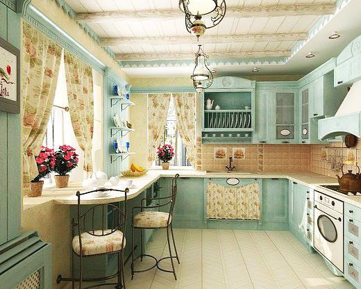 Кухня в стиле прованс: по стопам Средиземноморья
