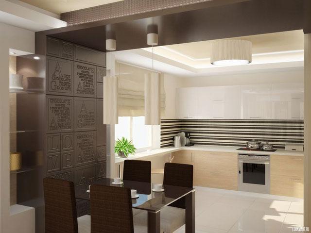Дизайн кухни с балконом 11 кв.м