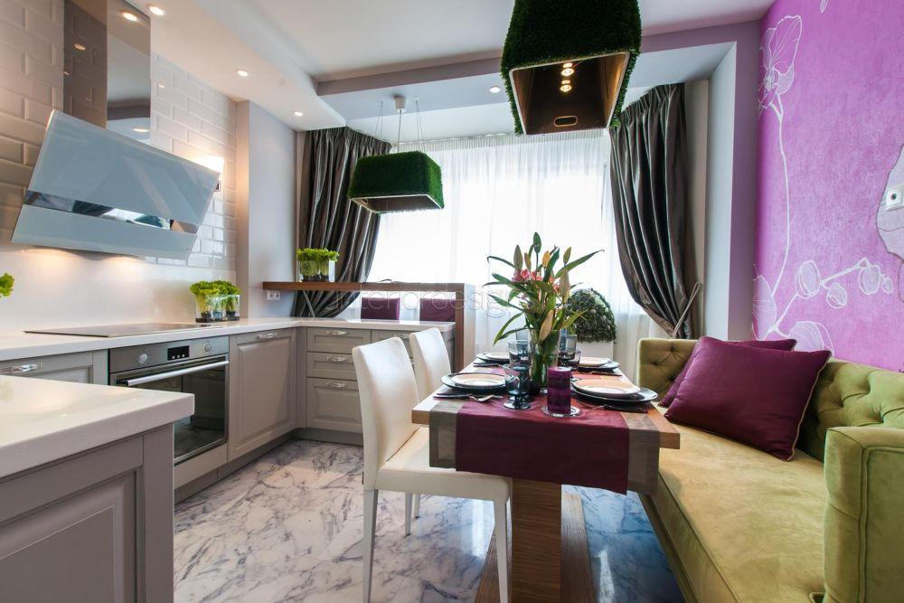 кухня 11 кв.м. без верхних шкафов