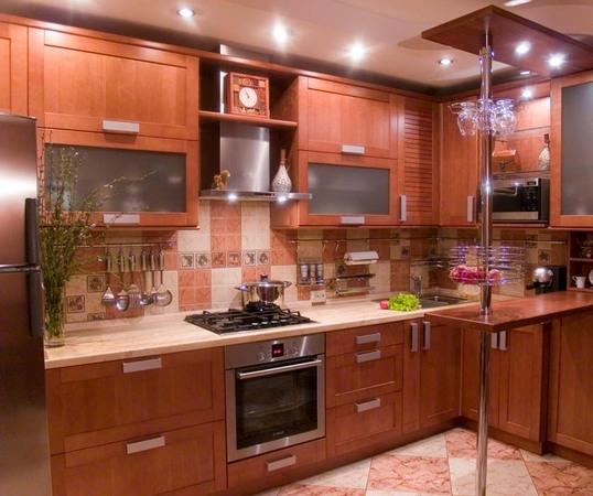 кухня 11 кв.м. из МДФ