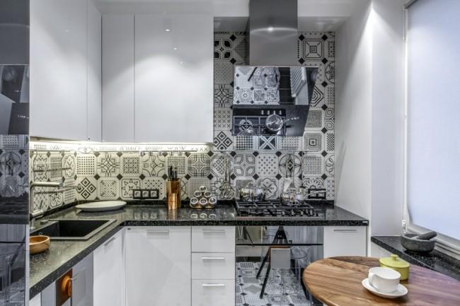 белая кухня 7 кв.м.