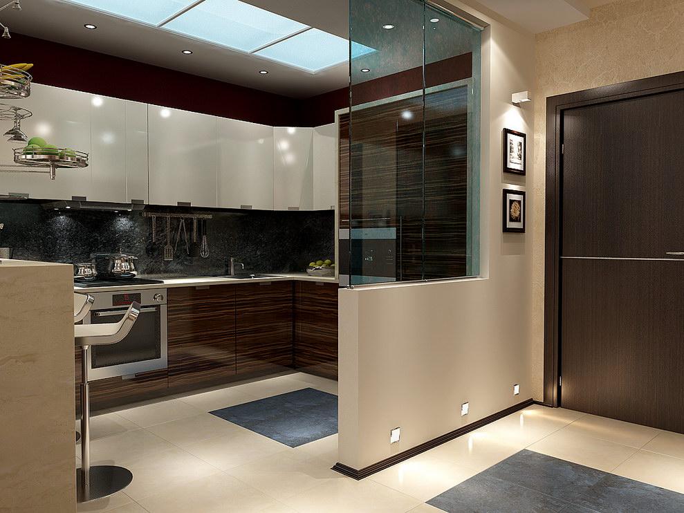 венге в интерьере кухни 7 кв.м.