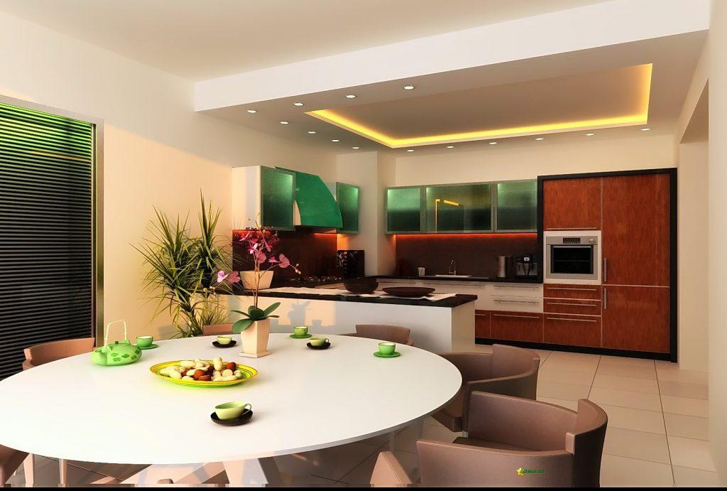 зонирование кухни-гостиной 17 кв.м.