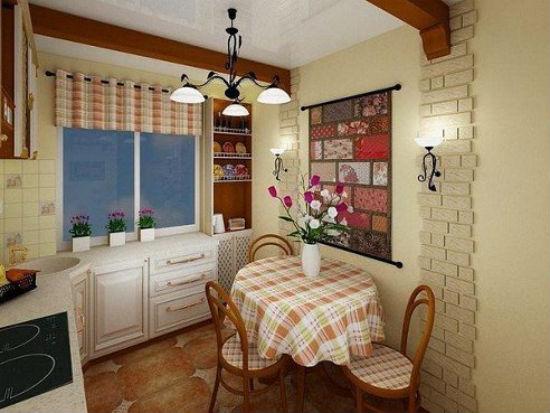 кухонный уголок на балконе