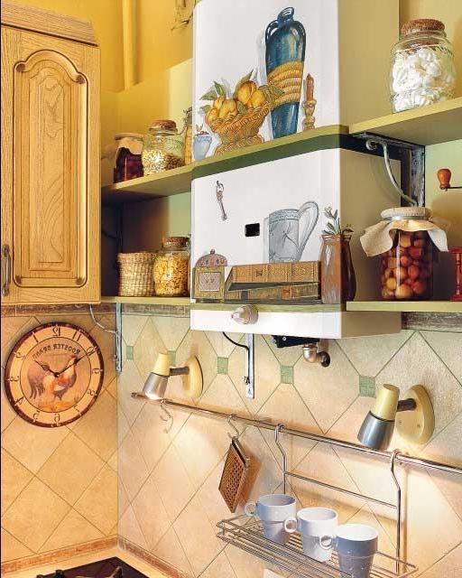газовый котёл на кухне