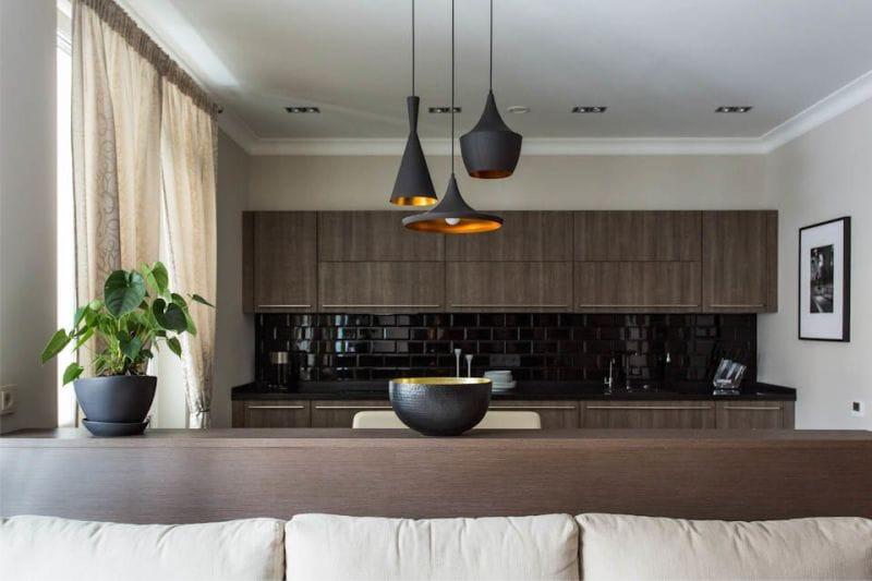 кухня столовая гостиная освещение