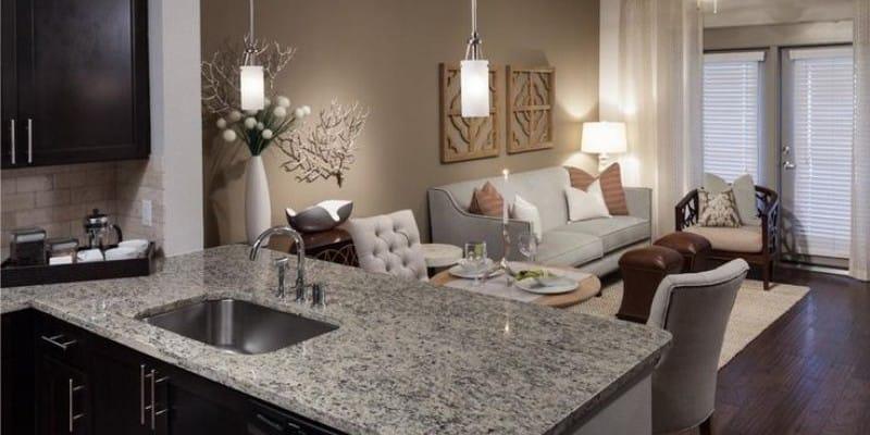кухня столовая с гостиной