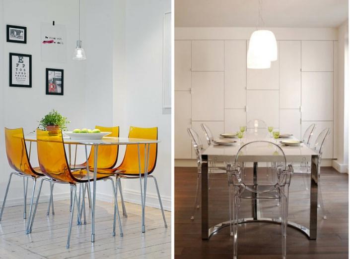стулья на кухне хай тек