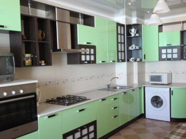 мятный на кухне в стиле хай тек 2017