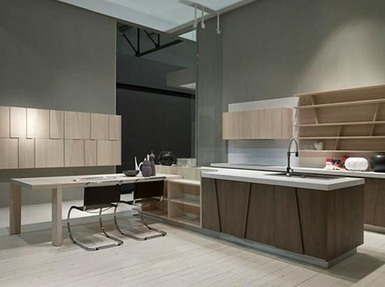 серый цвет на кухне в стиле хай тек 2017