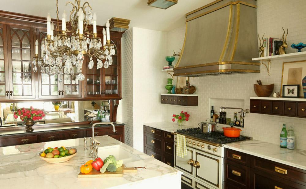 роскошная люстра для кухни