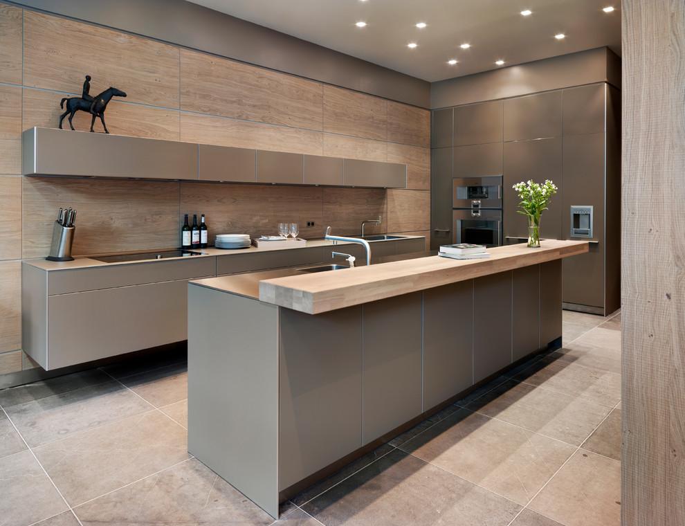 подвесной гарнитур на кухне 3 метра