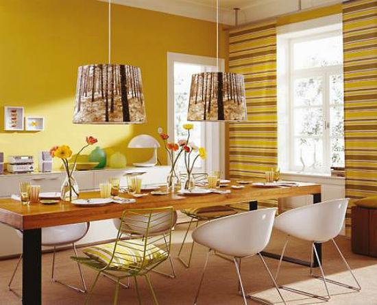 Желтые на кухне