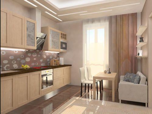 шторы для кухни на балкон