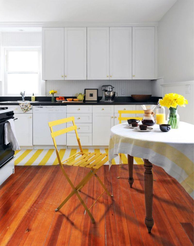 жёлтый декор в интерьере кухни